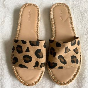 Shoes - Leopard slide sandals